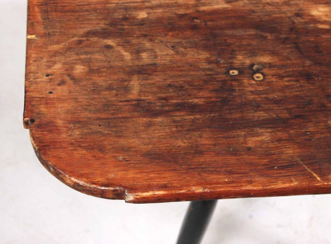Green-Painted Pine Tavern Table - 3