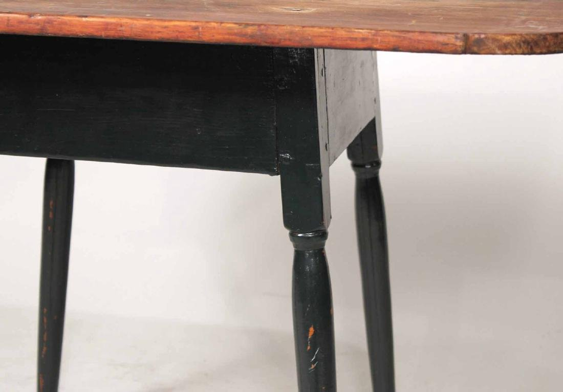 Green-Painted Pine Tavern Table - 5