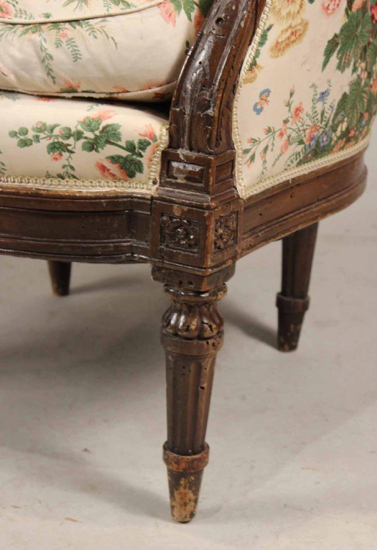 Louis XVI Style Carved and Painted Wood Bergere - 2