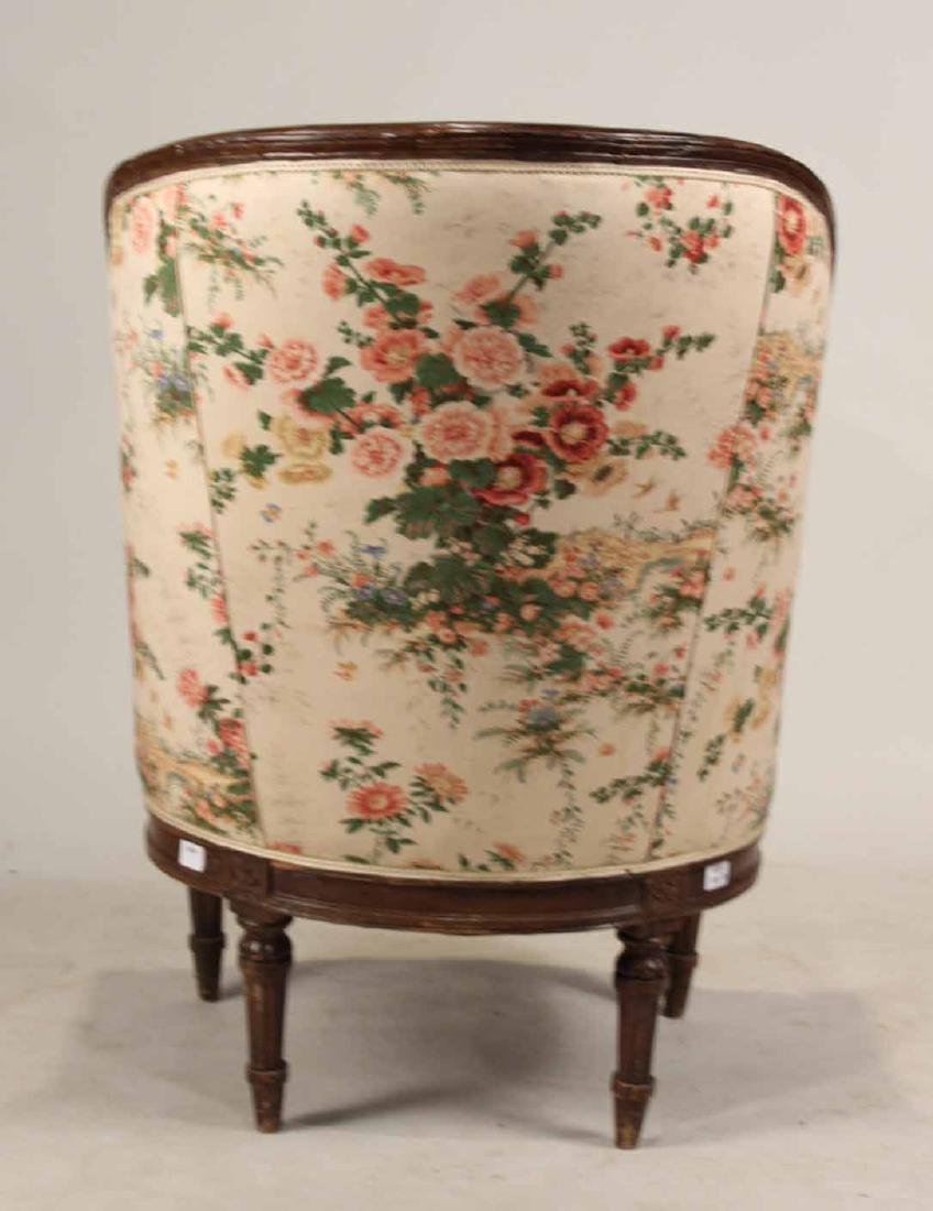 Louis XVI Style Carved and Painted Wood Bergere - 7