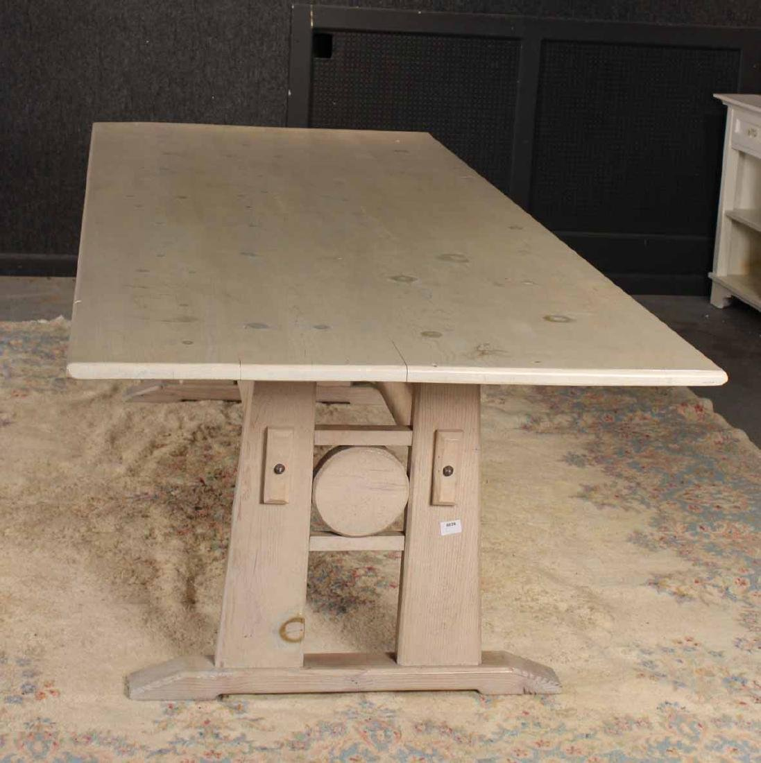 Stained Wood Farm Table