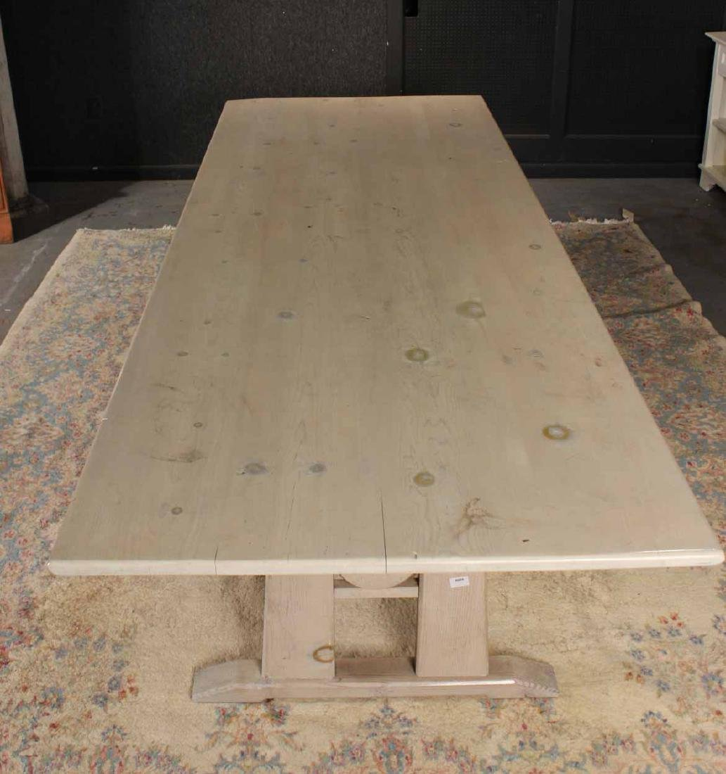 Stained Wood Farm Table - 2