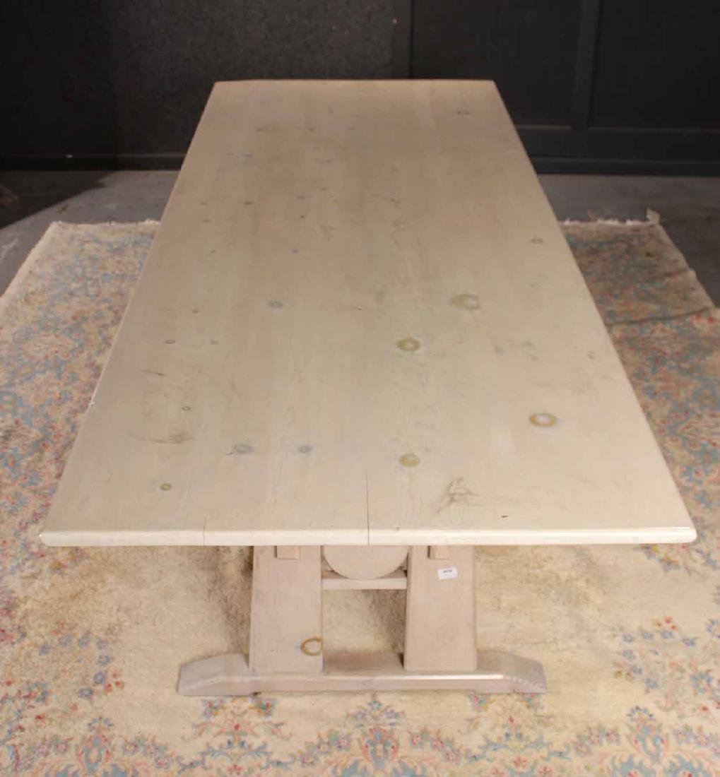 Stained Wood Farm Table - 4