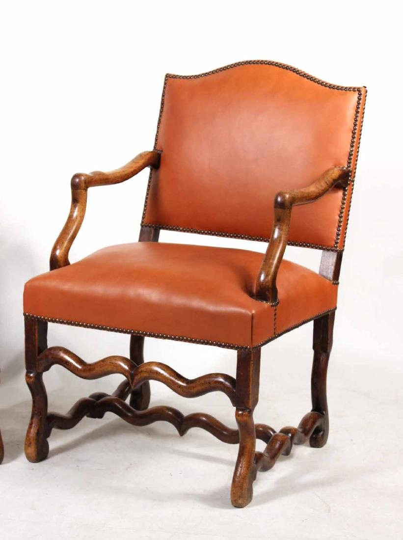 Pair of French Walnut os du Mouton Fauteuils - 2