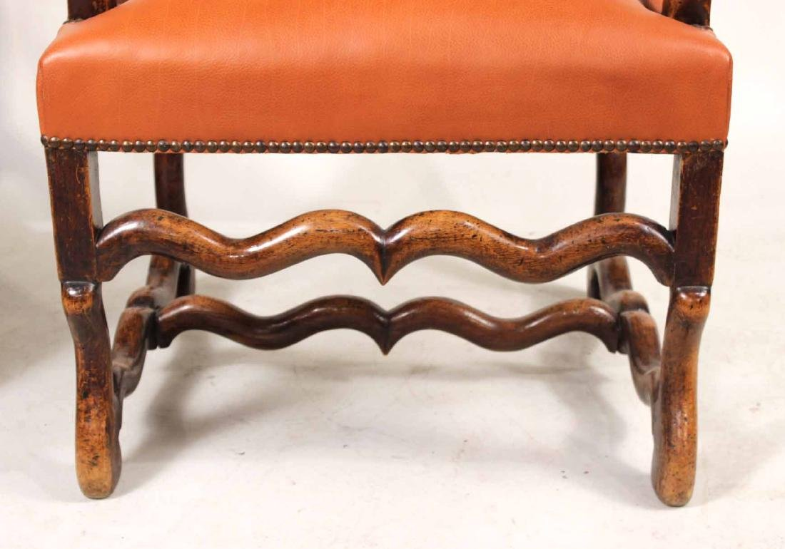 Pair of French Walnut os du Mouton Fauteuils - 7