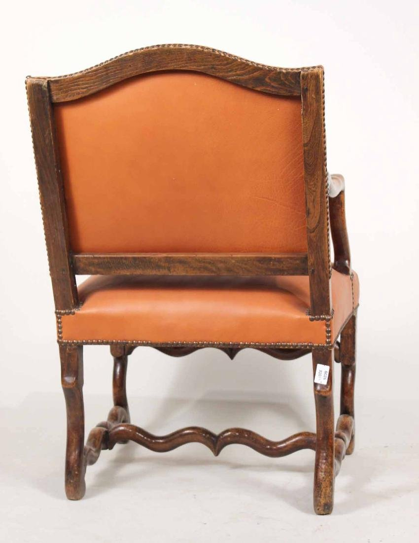 Pair of French Walnut os du Mouton Fauteuils - 8