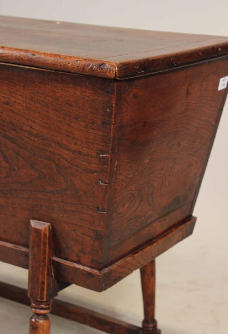 Jacobean Style Elmwood Dough Box - 3