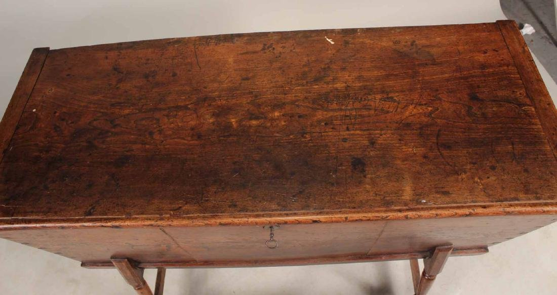 Jacobean Style Elmwood Dough Box - 6
