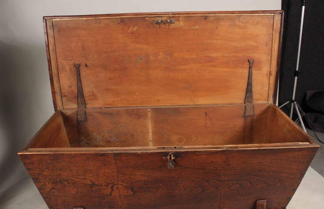 Jacobean Style Elmwood Dough Box - 7