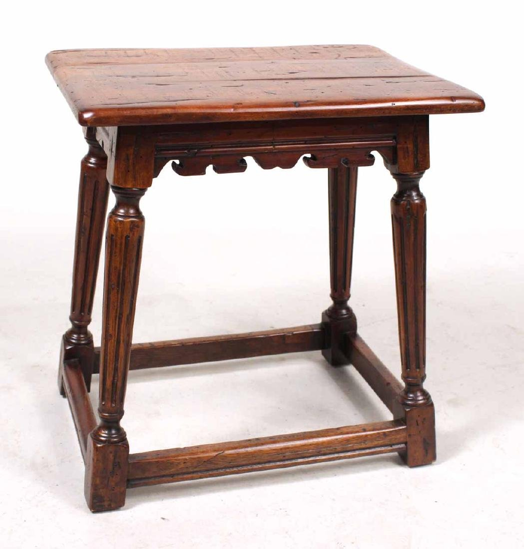 Two Jacobean Style Oak Joint Stools - 6