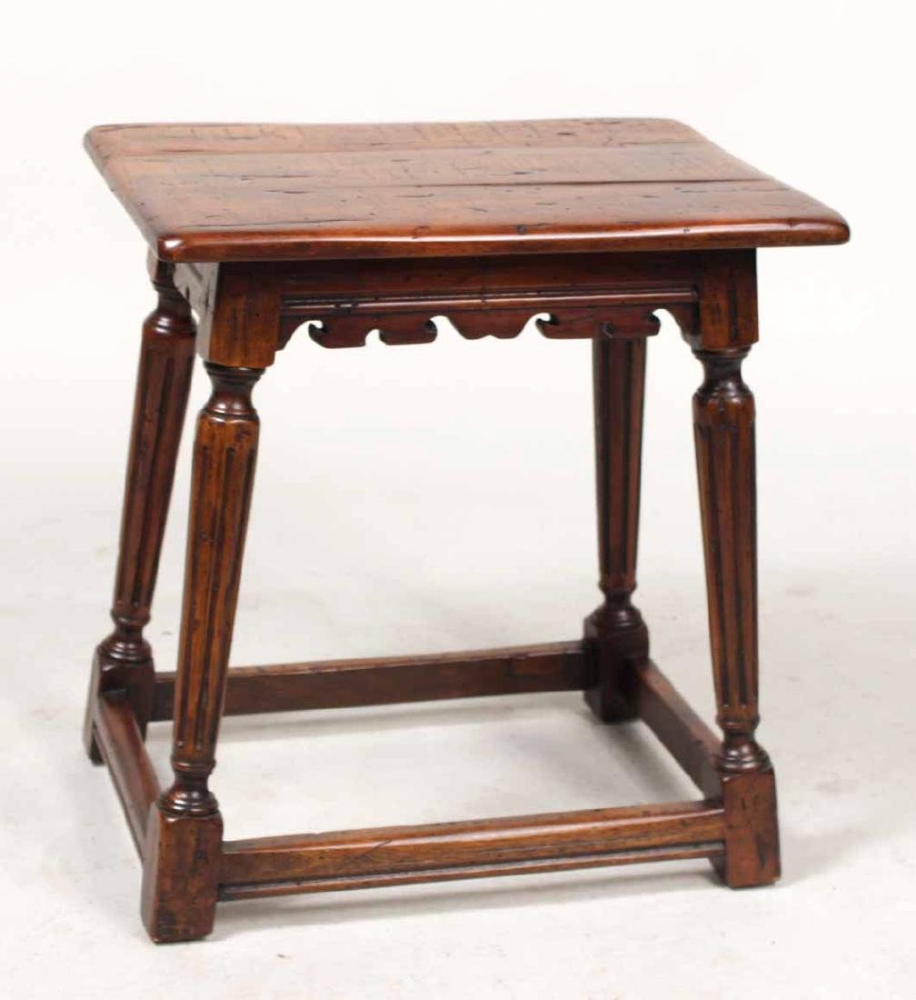 Two Jacobean Style Oak Joint Stools - 7