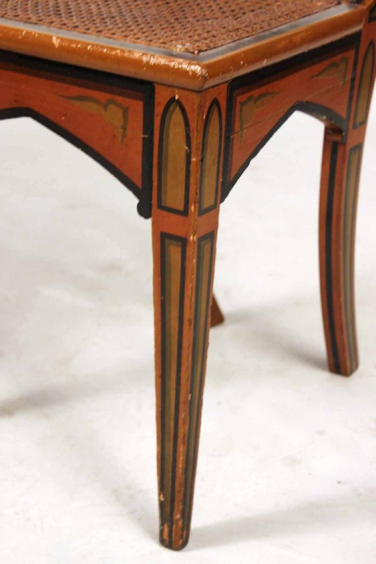 Pair of Gothic Paint-Decorated Side Chairs - 3