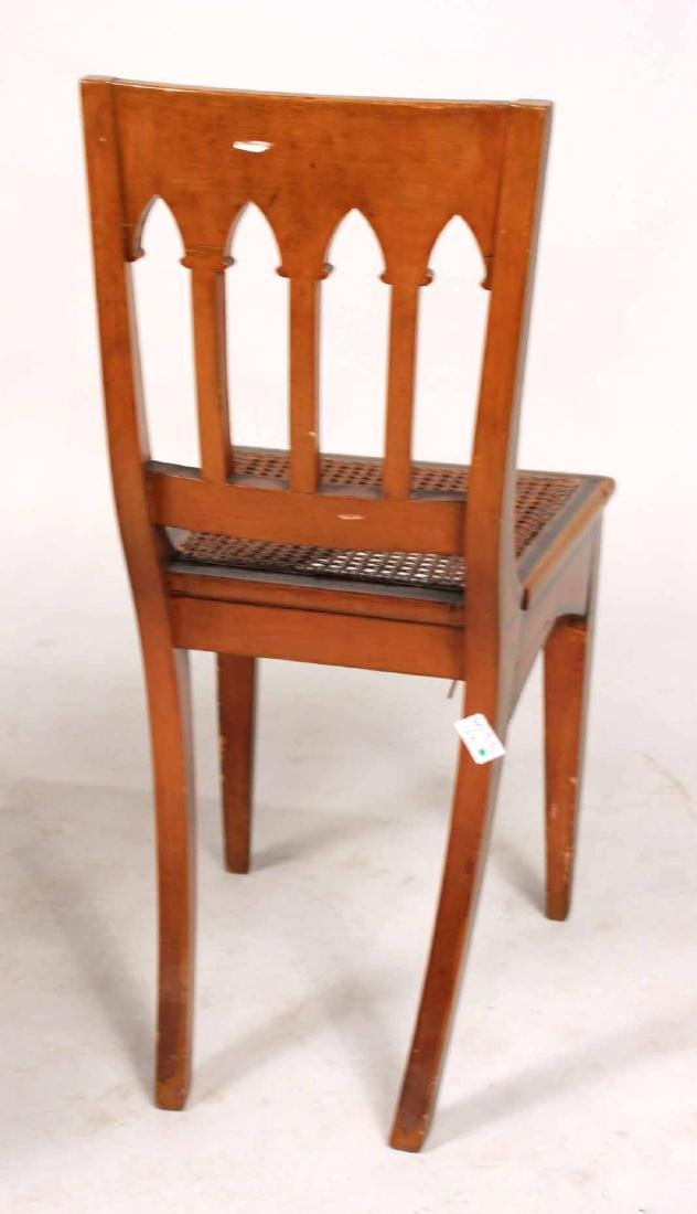 Pair of Gothic Paint-Decorated Side Chairs - 8