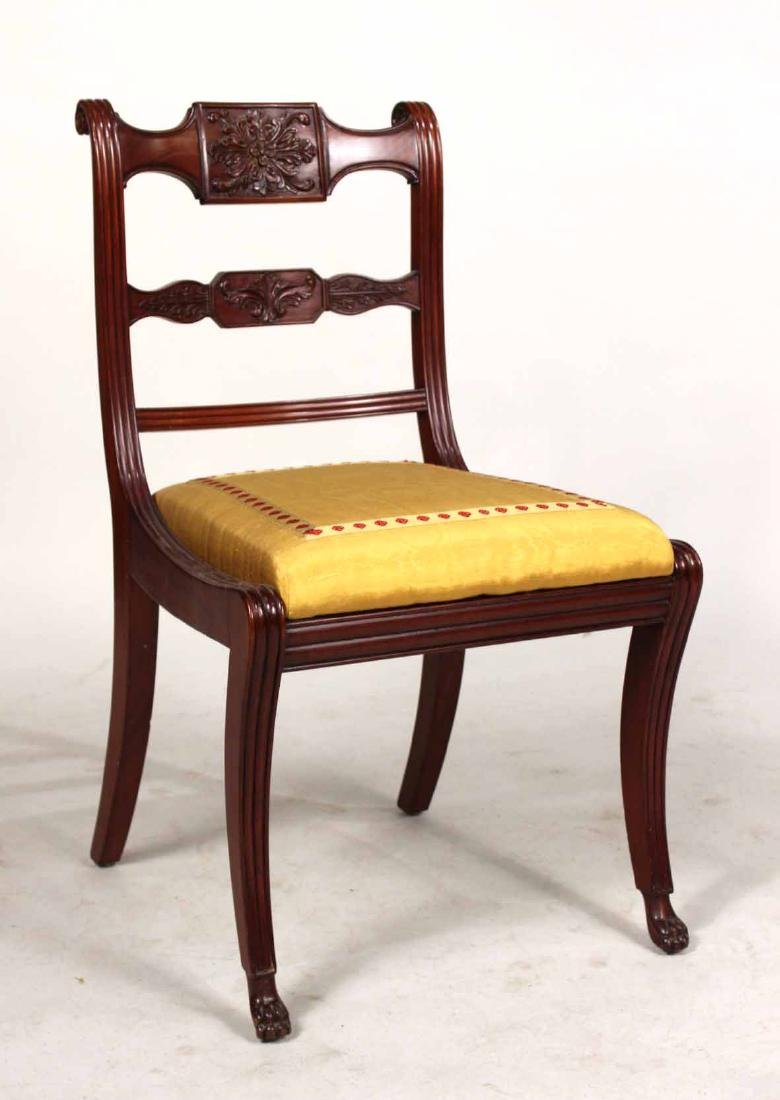 Four Neoclassical Carved Mahogany Dining Chairs - 2