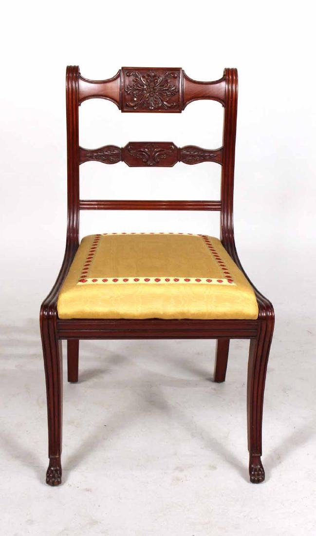 Four Neoclassical Carved Mahogany Dining Chairs - 3
