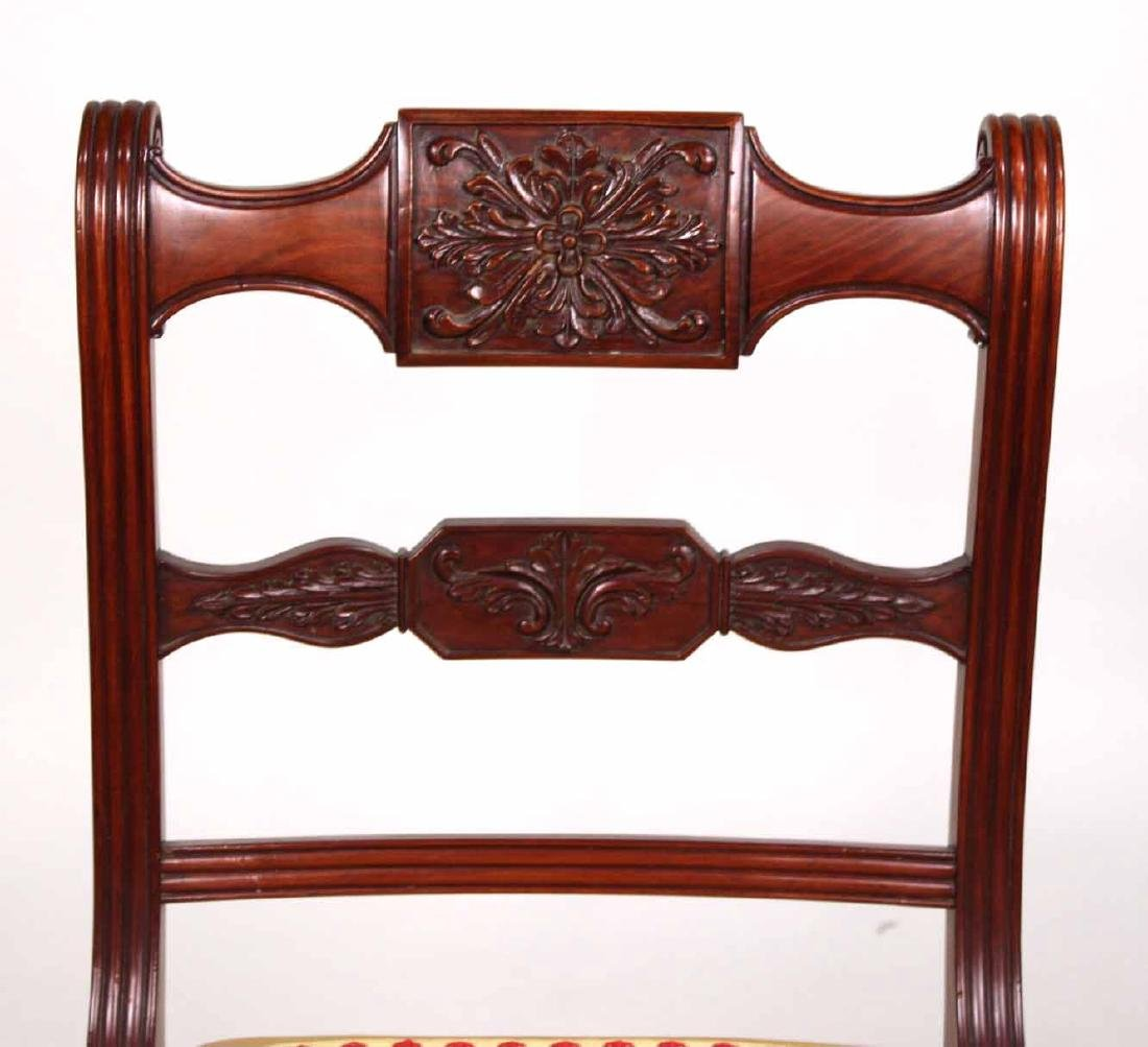 Four Neoclassical Carved Mahogany Dining Chairs - 4