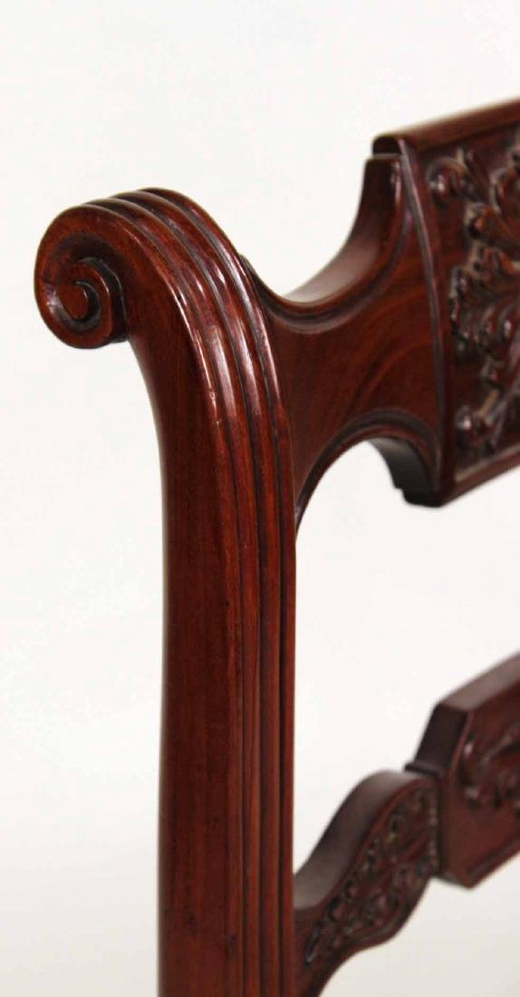 Four Neoclassical Carved Mahogany Dining Chairs - 8