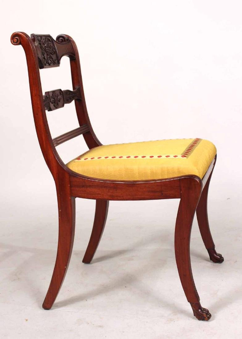 Four Neoclassical Carved Mahogany Dining Chairs - 9