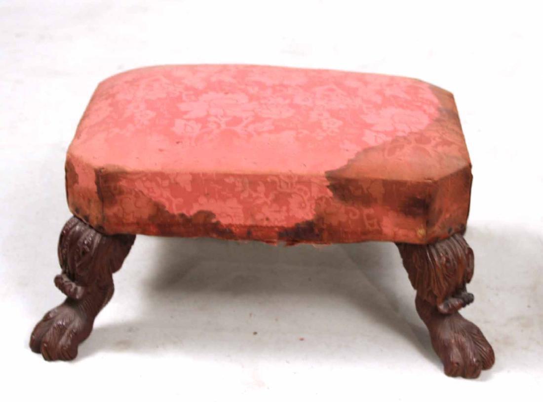 Pair of Empire Carved Mahogany Footstools - 5