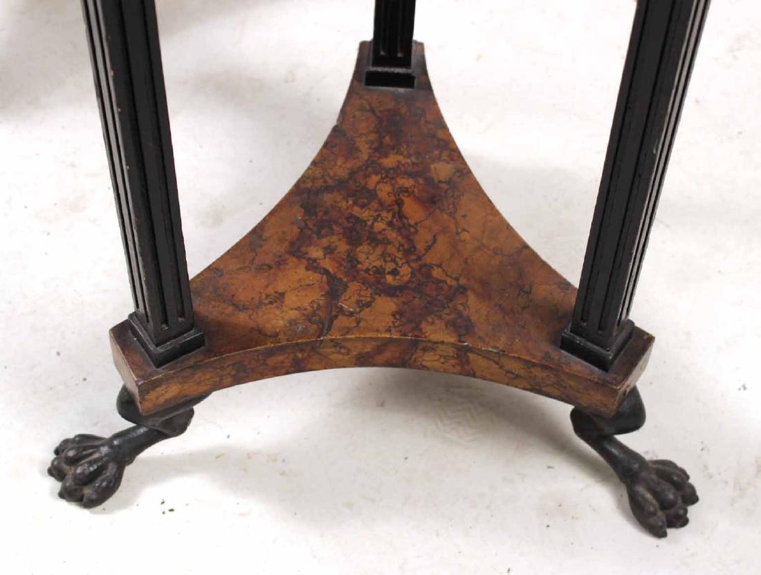 Pair of Neoclassical Ebonized Pedestals - 5