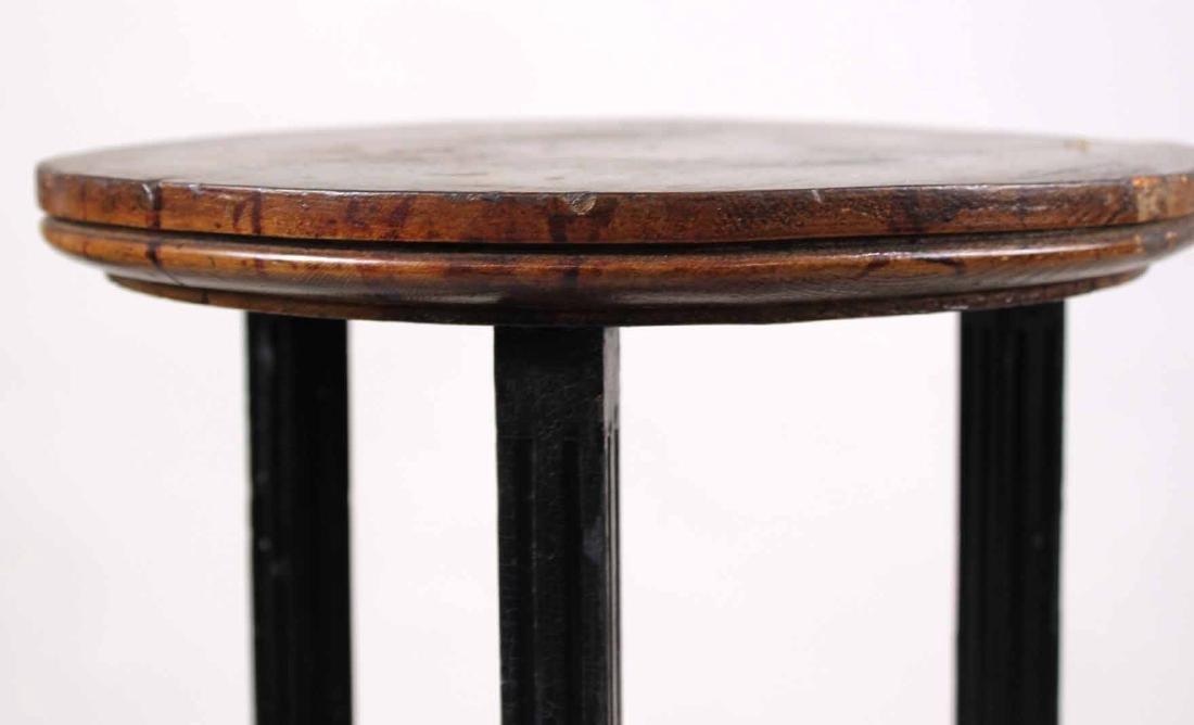 Pair of Neoclassical Ebonized Pedestals - 7
