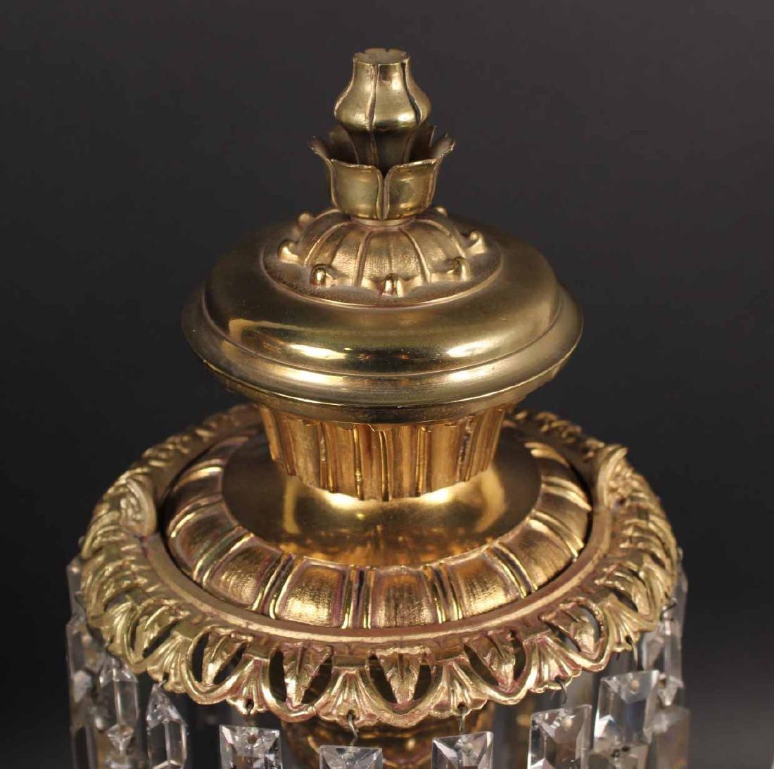 Pair of Gilt Bronze Single Arm Argand Lamps - 4