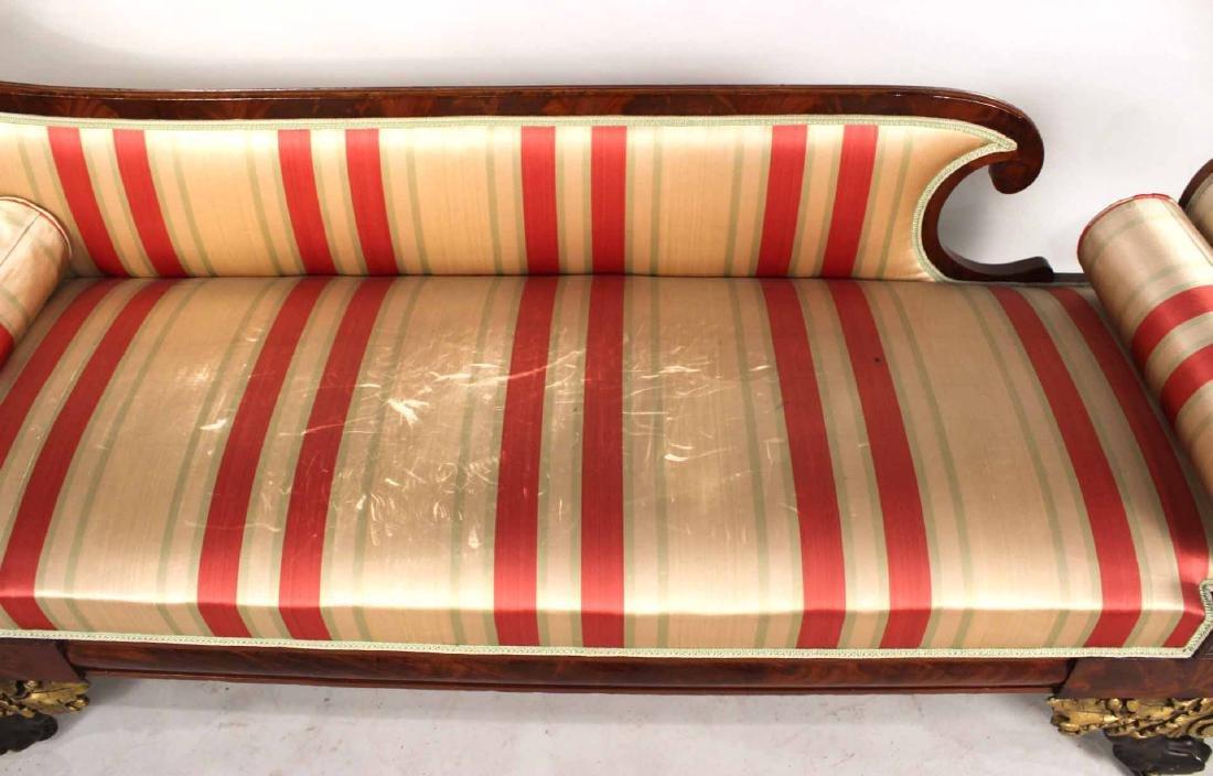 Neoclassical Parcel-Gilt Mahogany Recamier - 8