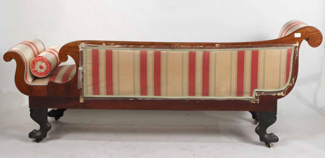 Neoclassical Parcel-Gilt Mahogany Recamier - 9