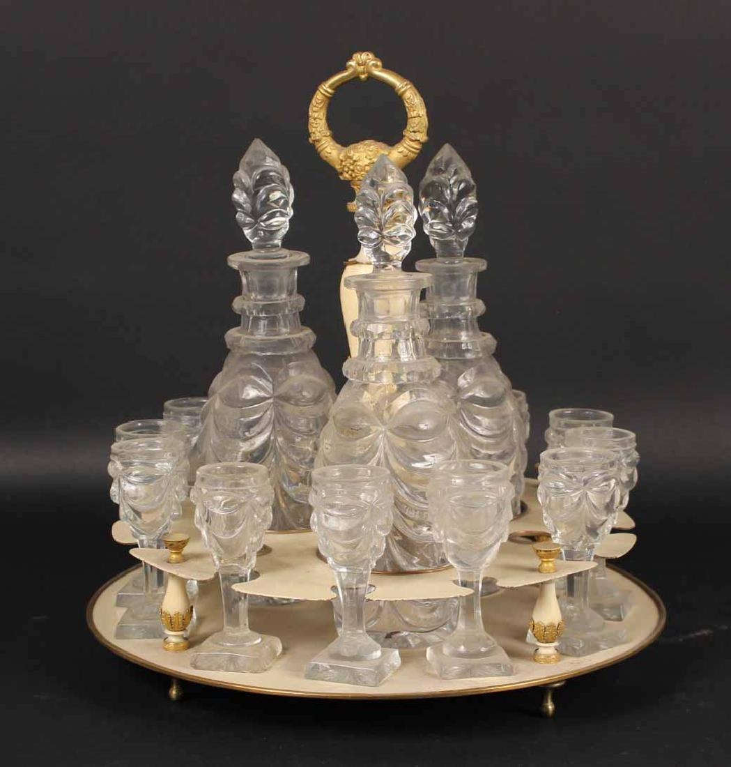 Gilt Bronze & Enamel Liqueur Tray