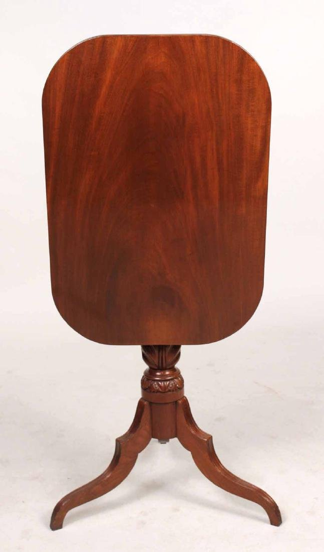 Late Federal Carved Mahogany Tilt-Top Candlestand