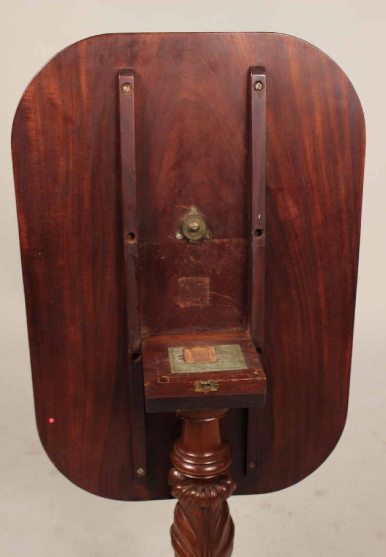 Late Federal Carved Mahogany Tilt-Top Candlestand - 8