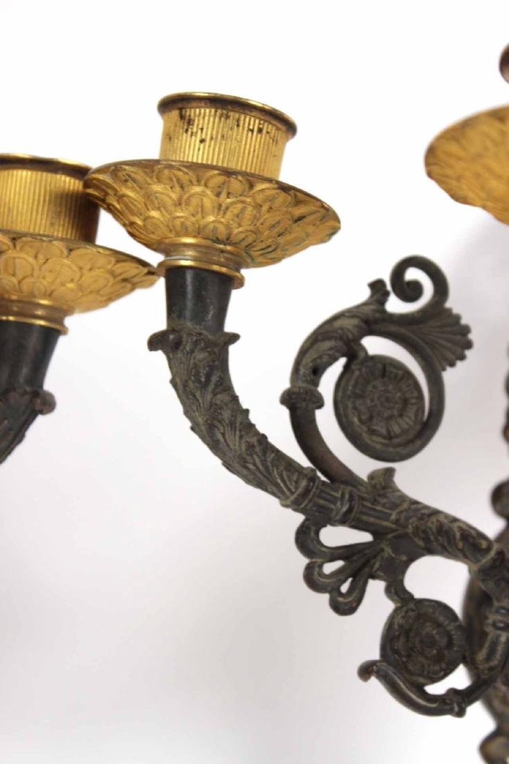 Pair of Charles X Gilt Bronze Wall Sconces - 5