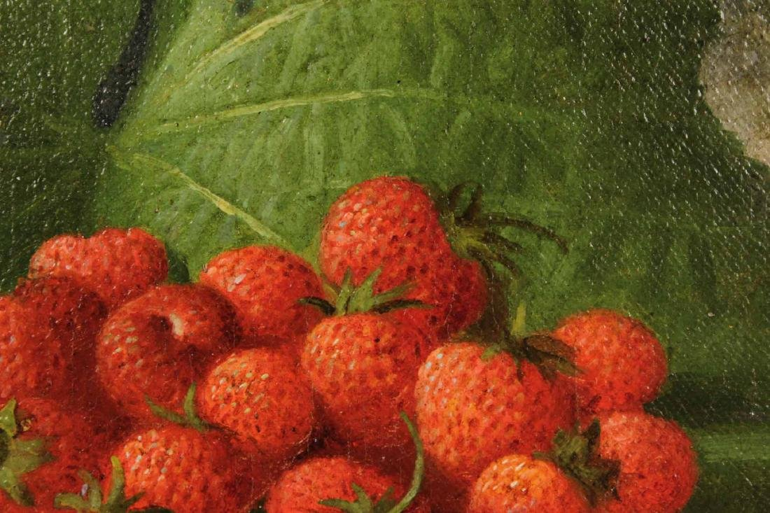Oil on Canvas, Strawberries, George Henry Hall - 4