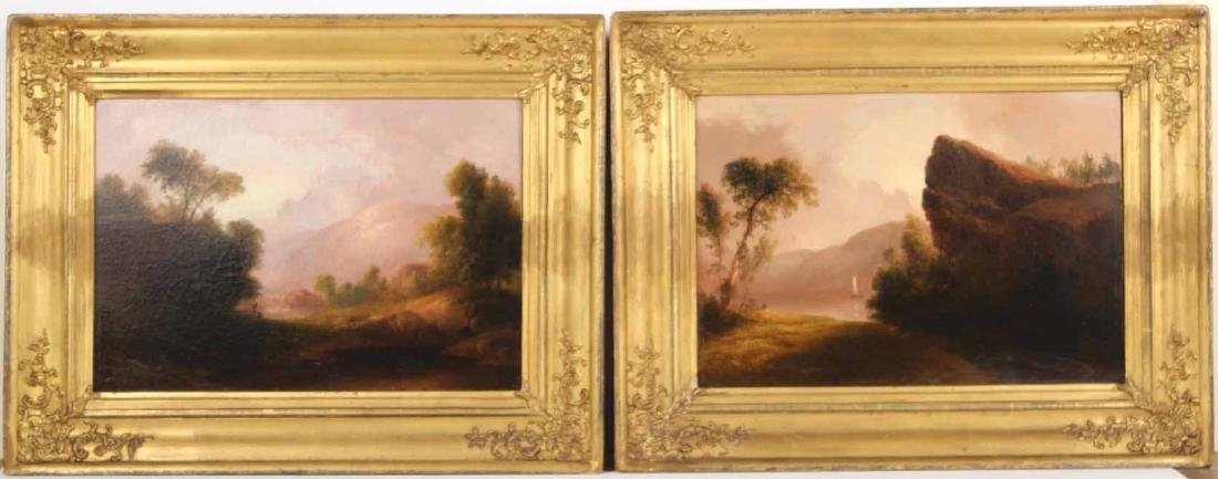 Two Oil on Canvas, Riverscapes, Thomas Doughty