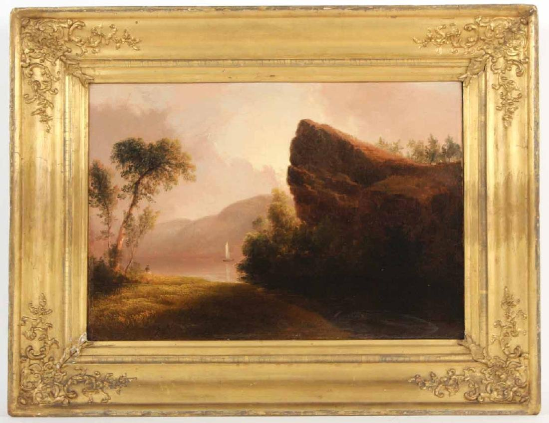 Two Oil on Canvas, Riverscapes, Thomas Doughty - 2