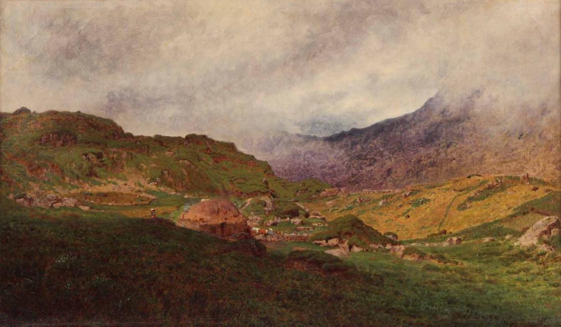 Oil on Canvas Bucolic Landscape - 2