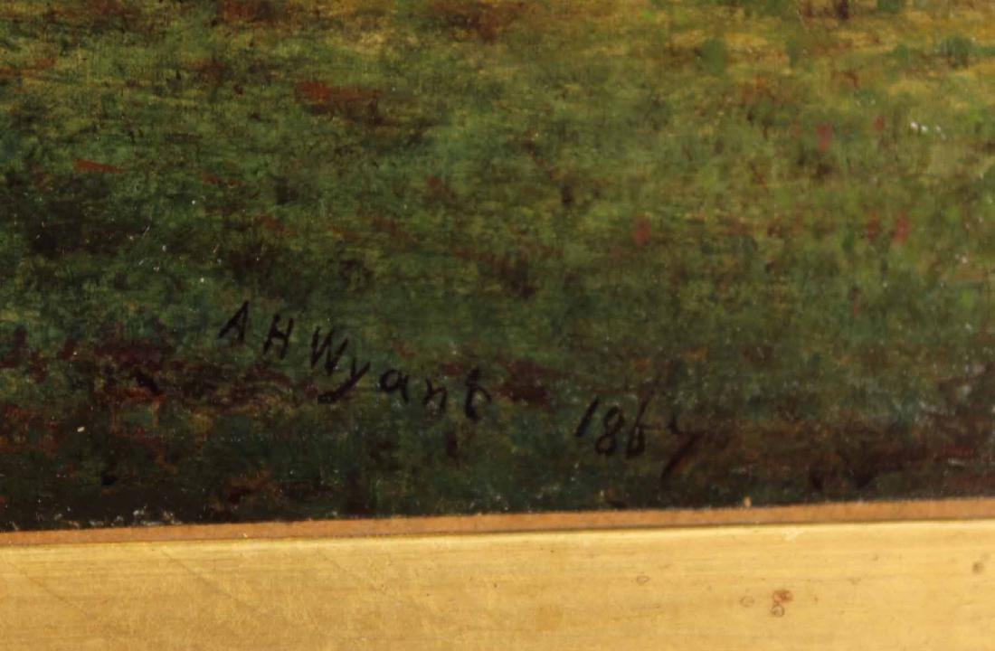 Oil on Canvas Bucolic Landscape - 3