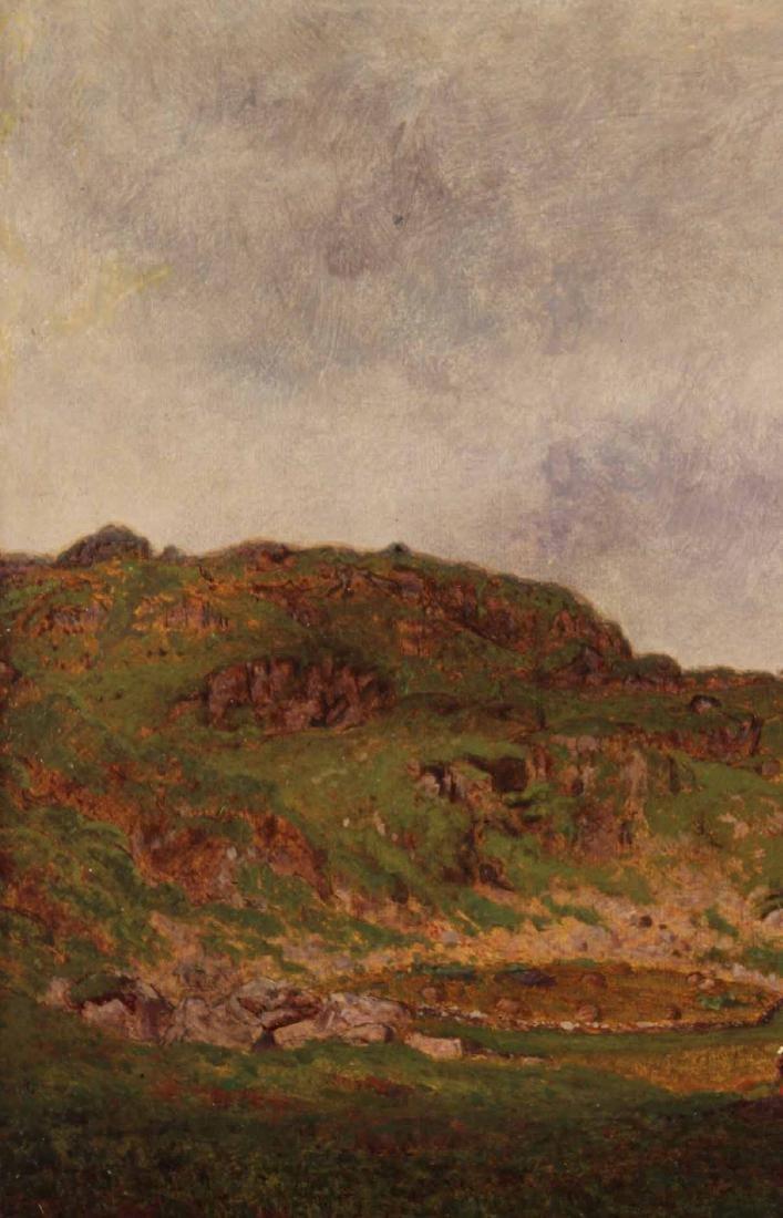 Oil on Canvas Bucolic Landscape - 5