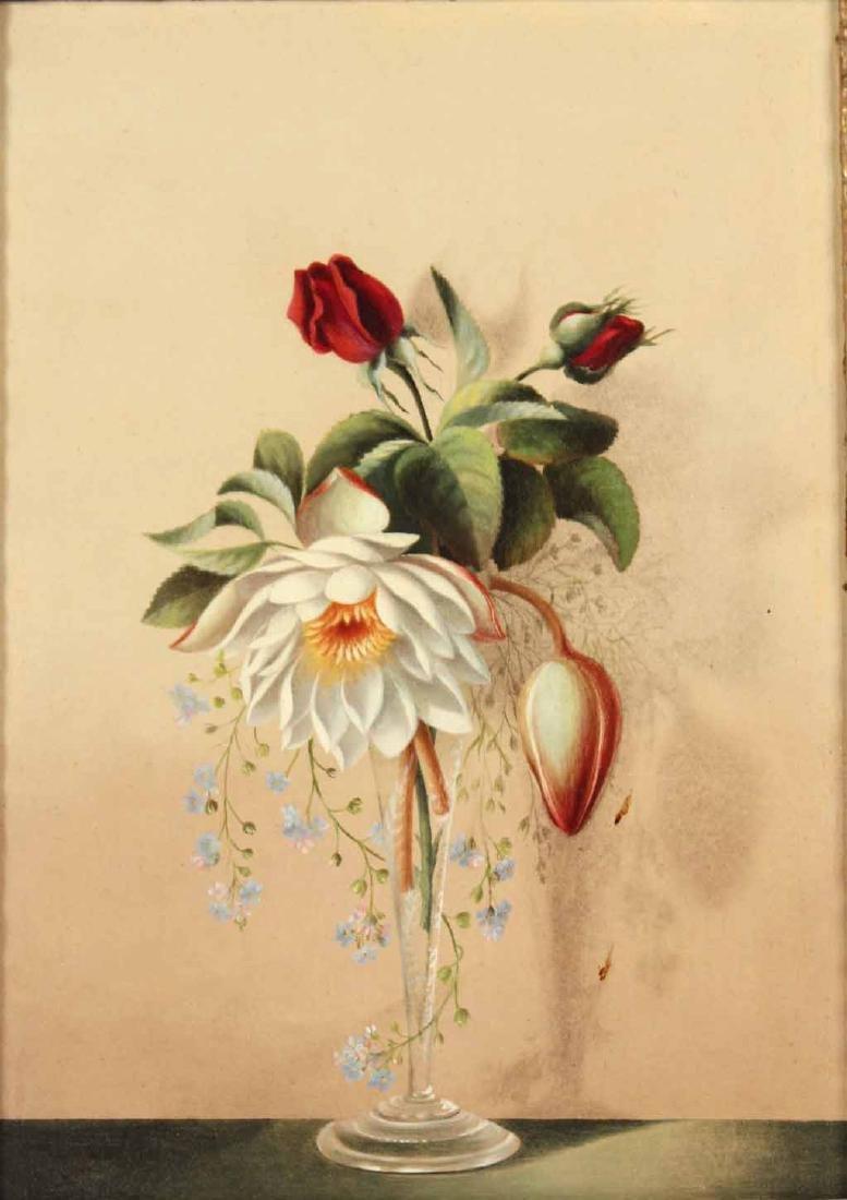 Oil on Board Floral Still Life - 2
