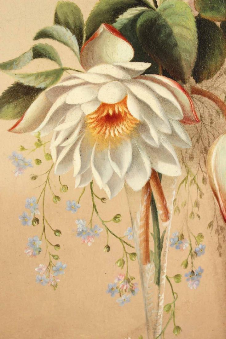 Oil on Board Floral Still Life - 3
