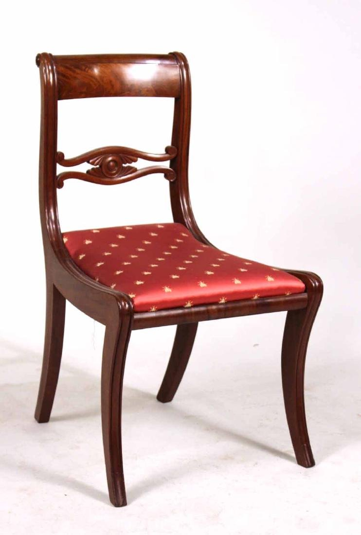 Eight Neoclassical Carved Mahogany Dining Chairs - 10