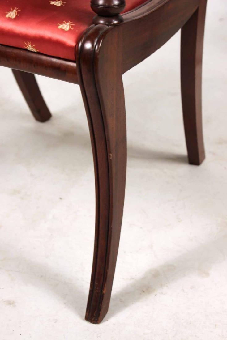 Eight Neoclassical Carved Mahogany Dining Chairs - 8