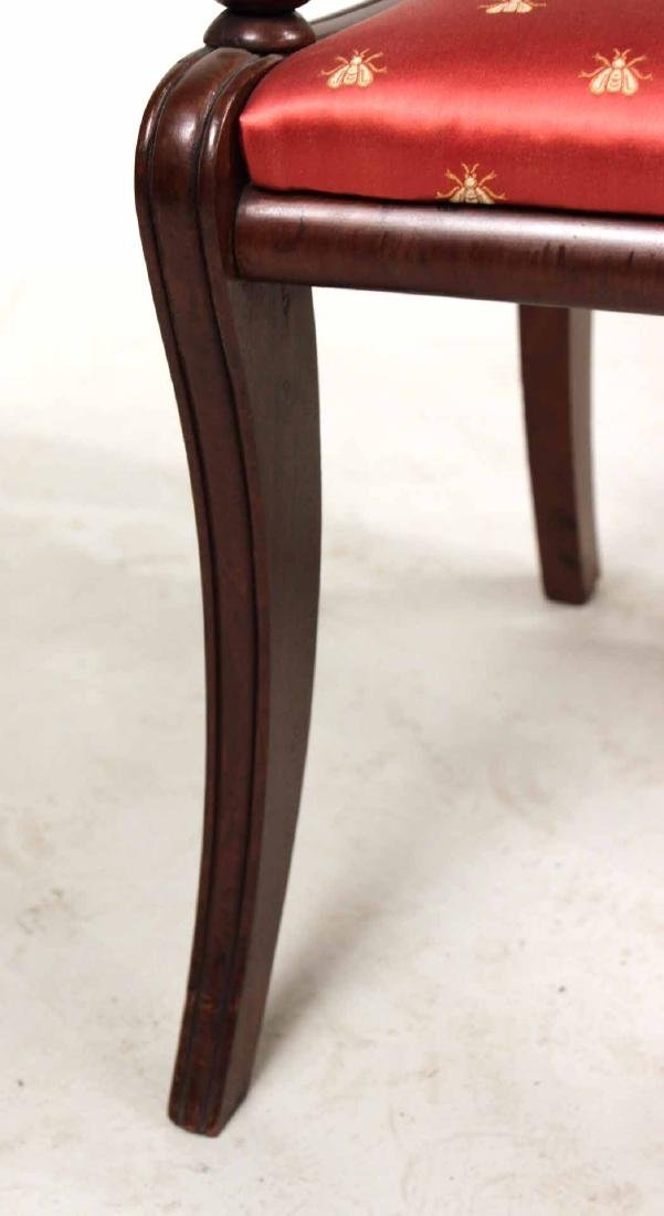 Eight Neoclassical Carved Mahogany Dining Chairs - 9
