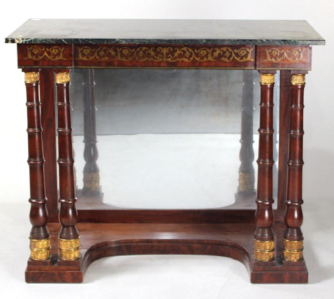 Neoclassical Ormolu-Mounted Marble Top Pier Table