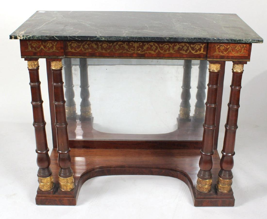 Neoclassical Ormolu-Mounted Marble Top Pier Table - 2
