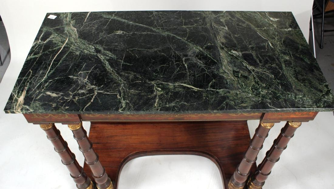 Neoclassical Ormolu-Mounted Marble Top Pier Table - 3