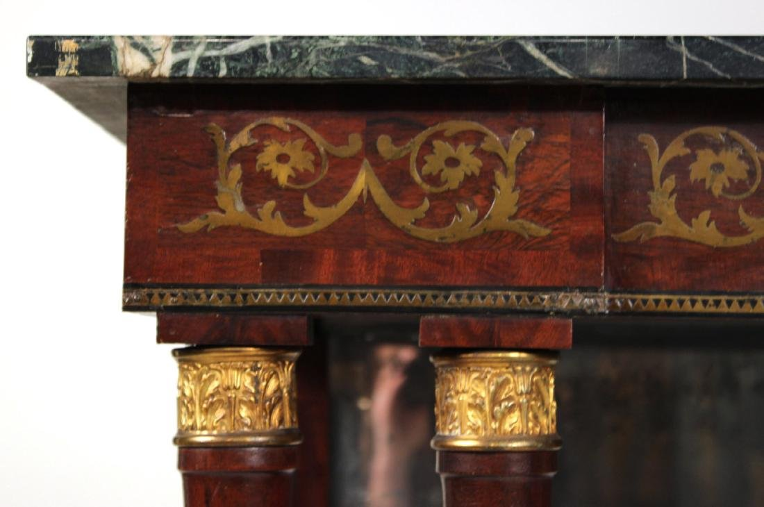 Neoclassical Ormolu-Mounted Marble Top Pier Table - 5