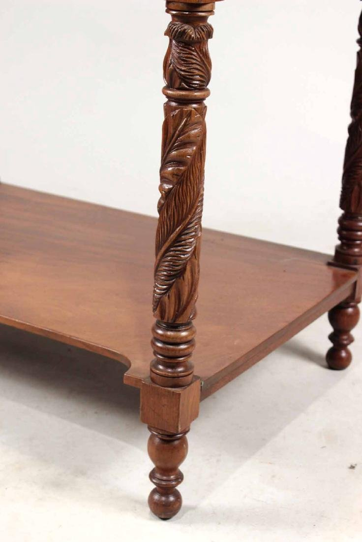 Late Federal Carved Mahogany Desk and Bookcase - 4
