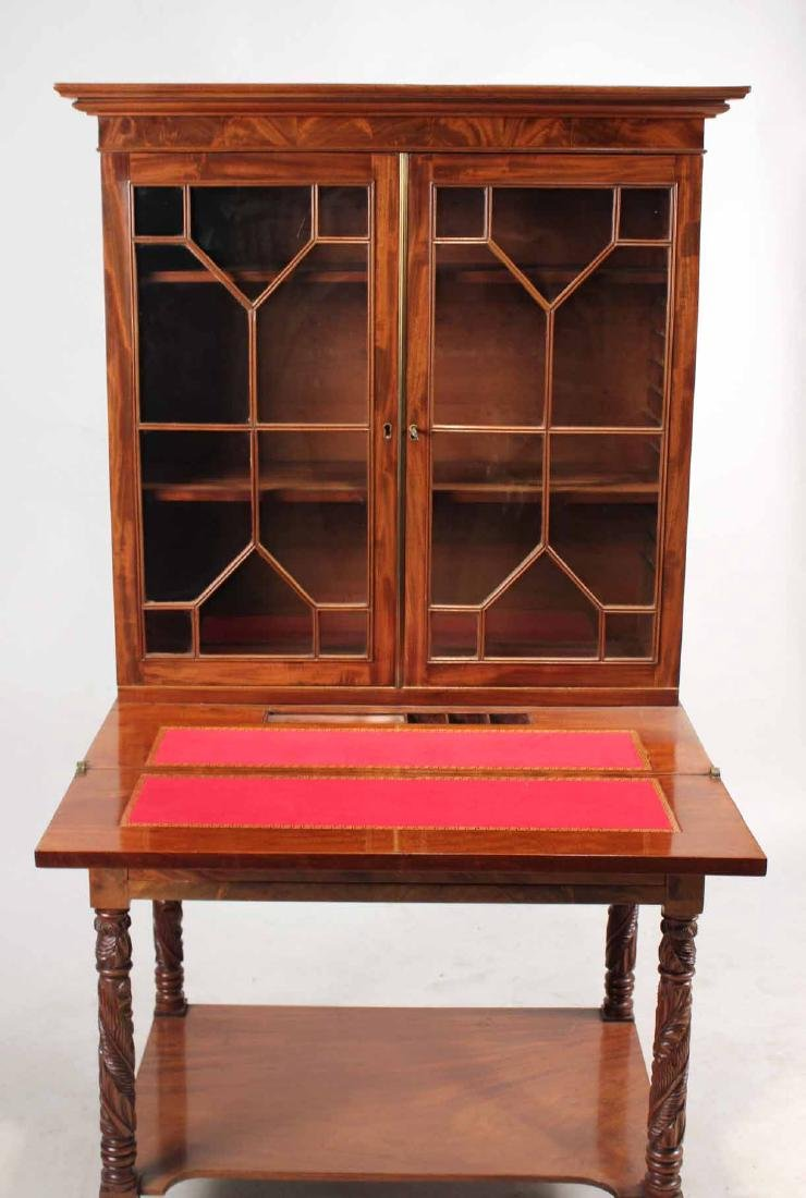 Late Federal Carved Mahogany Desk and Bookcase - 6