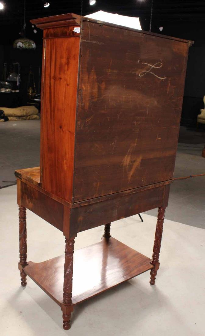 Late Federal Carved Mahogany Desk and Bookcase - 9